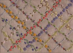 """Lucy's Garlands from French Needle - any ones of these """"garlands"""" would make a lovely small border."""