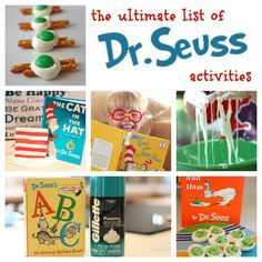 The Ultimate List of Dr. Seuss Activities!  So many great ideas!