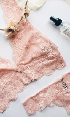 love this lace, palest pink