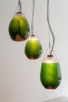 Photosynthetic furniture: glass vessels of edible bioluminescent algae