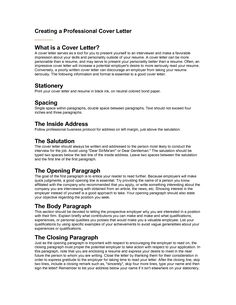 Sample Cover Letter Formats: Sample Cover Letter Format With ...