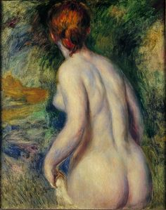 Pierre-Auguste Renoir, Nude Seen from the Back, Tel Aviv Museum of Art Pierre Auguste Renoir, Mark Demsteader, Sketch Painting, Figure Painting, Claude Monet, Charles Gleyre, August Renoir, Most Popular Artists, Fantasia