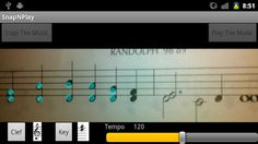 SnapNPlay, a Japanese Android app that enables smartphones to read sheet music from paper and play it back to you.