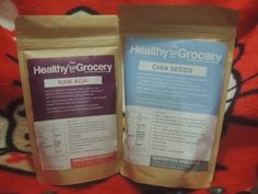 Unboxing #Superfoods Bought At TheHealthyGrocery.com  (#Chia Seeds & #Acai Berry)
