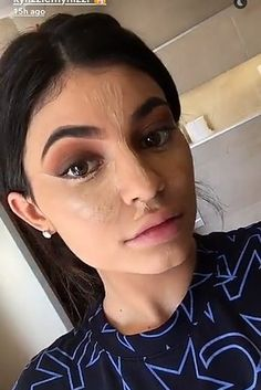 So yesterday, Kylie Jenner dropped a tutorial on Snapchat of her everyday makeup routine. | Kylie Jenner Did A Makeup Tutorial On Snapchat And People Had Very Mixed Reactions