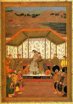 Meeting of Prince Murad and Khusrau Sultan