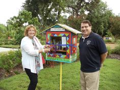 Lisa Kothe. Safety Harbor, FL. This beautiful LFL was created by Steve Puskas and Susan Kelly of Safety Harbor. It is located in beautiful Mullet Creek Park in Safety Harbor, FL. The Safety Harbor Public Library is the steward of this LFL adorned in colorful artwork and dogs looking out each window!