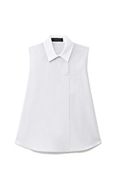 Shop Contrast Collar Cotton-Poplin Top by Thakoon Now Available on Moda Operandi