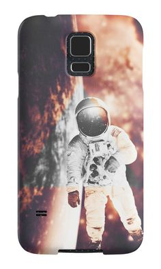 Floating in silence by nath-gary #PhoneCases #Space #Nebula #Galaxy #Astronaut #Stars #Photomanip #Triangle #WarmColors #Dream #SciFi