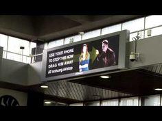 "Interactive Billboard Lets You ""Drag Away"" Abusive Man https://twitter.com/NeilVenketramen"
