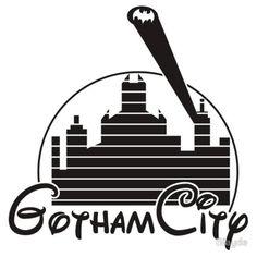 Gotham City/Disney Logo