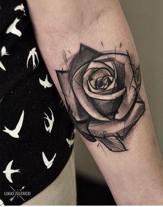 Lukas Zglenicky rose tattoo