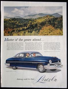 vintage 1950s ads | Vintage Lincoln Magazine Ad