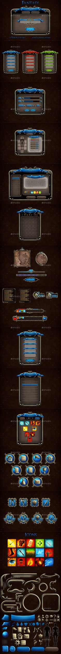 Fantasy RPG User Interface - User Interfaces Game Assets