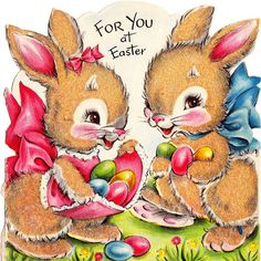 An adorable vintage Easter card. #cute #vintage #cards #Easter