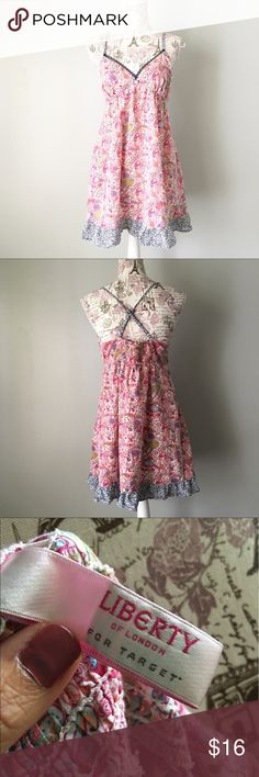 Liberty of London for Target Paisley Sundress Liberty of London for Target pink Paisley Sundress. Adjustable cross cross straps. Size M Liberty of London Dresses Mini