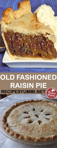 Food Photography: Old Fashioned Raisin Pie Rasin Pie Recipes, Raisin Recipes, Cake Recipes, Dessert Recipes, Desserts, Raisin Pie Filling Recipe, Pie Dessert, Old Fashioned Raisin Pie Recipe, Pecan Bars