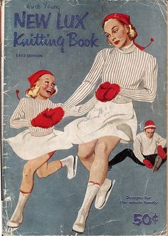 ice skating m & d knitting book cover illustrated