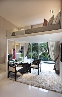 Interior Design For Small Apartments Home Interior Design For Small Apartments is a design that is very popular today. Design is the search to make that make the house so it's modern . Small Apartment Decorating, Apartment Interior Design, Home Interior, Apartment Ideas, Small Apartment Plans, Flat Interior, Luxury Interior, Interior Ideas, Small Space Living