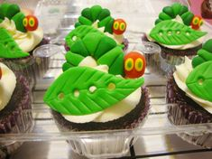 Very Hungry Caterpillar Cupcake toppers SugarShackCupcakes/Etsy