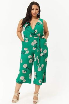 f66e4fc48c7b Forever 21 Plus Size Floral Print Jumpsuit plussizejumpsuitssummer   plussizejumpsuitsoutfit  plussizejumpsuitsharems   plussizejumpsuitswithsleeves