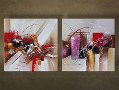 Pictura pictată manual este pictata prin combinarea culorilor acrilice și culorilor ulei. Tablou modern pentru apartamentele moderne și interior