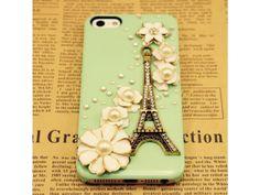 Lovely Eiffel Tower iPhone 5 Case - Mint Green (Version II)