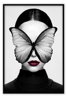 Black And White Wall Art, Fashion Wall Art, Jolie Photo, Surreal Art, Pictures To Paint, Face Art, Portrait Art, Woman Face, Collage Art