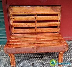 re purposing pallets, pallet projects, repurposing upcycling, garden bench