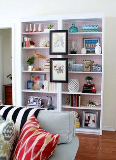 bookshelves styling