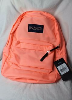 JanSport SuperBreak Backpacks - Coral Peaches for sale online Mochila Jansport, Mochila Kanken, Jansport Superbreak Backpack, Cute Backpacks For School, Cute School Bags, School Bags For Girls, Girl Backpacks, Backpack Bags, Fashion Handbags