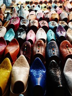 Surely you can't visit Marrakech Morrocco without purchasing a pair for the collection :)