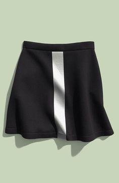 etre cecile être cécile 'Single Stripe Tape' Mini Skirt (Women) available at #Nordstrom