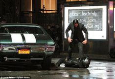 You don't steal John Wick's car. And from the looks of the latest set photos in Manhattan New York, you probably shouldn't drive your motorcycle out in front of it either John Wick Car, John Wick Movie, Keanu Reeves John Wick, Keanu Charles Reeves, John Wick Mustang, John Wick 2014, Chevrolet Chevelle, 1970 Chevelle, Army Of Two