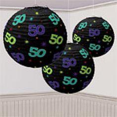 50th Birthday Paper Lanterns | 3ct