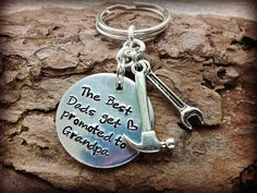 Best Grandpa Keychain  Hand Stamped Keychain  by SweetAspenJewels, $21.00