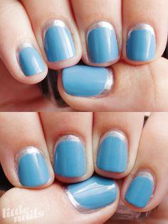 Blue Moon Manicure | Little Nails