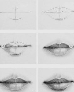 5 888 Ich zeichne gerne 52 … – – comment dessiner un …? Mouth Drawing, Drawing Eyes, Painting & Drawing, Pencil Art Drawings, Art Drawings Sketches, Easy Drawings, Drawings Of Lips, Drawings Of Mouths, Drawing Techniques Pencil