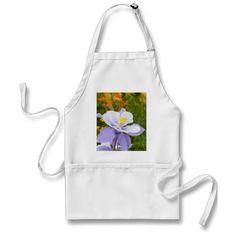 Blue Columbine Aprons Cheap Aprons, Aprons For Sale, Custom Bottle Labels, Custom Bottles, Hydrangea Flower, Flower Petals, Petal Floral, Flowers, Baking Apron