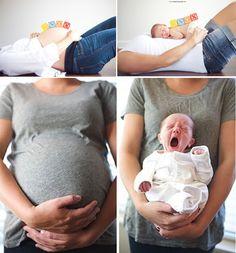 Idee per fotografare i bimbi prima e dopo il parto!
