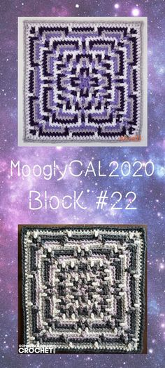 MooglyCAL2020 Block 22 is a bold and graphic square by Oombawka Design! Get all the details, and the link to Block #22 in this free year-long crochet along! #mooglycal2020 #crochetalong #freecrochetpatterns #crochetsquares #redheartwithlove #crochetafghans