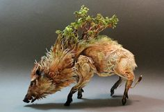 surreal animal sculptures by ellen jewett blend the world of fantasy and reality