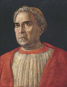 Andrea Mantegna, Cardinal Ludovico Trevisan, Ca. 1459-60. Tempera on wood