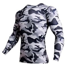 0d938401 Compression Shirt Men Camouflage Long Sleeve Tight Tee Shirt Men Fitne –  eticdress 3d T Shirts