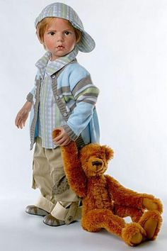 Little Boy And His Bear