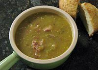 Green Tomato Soup With Country Ham | Serve this flavorful soup with hot baked cornbread and a salad.