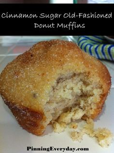 Love donuts and muffins? Try Cinnamon-Sugar Old Fashioned Donut Muffins!