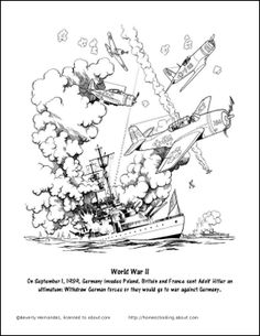 9 Worksheets That Will Teach Your Child About World War II: World War II Coloring Page