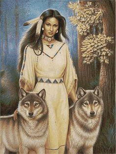 🐺💕💃🏻Wolves and Women Images? Native American Cherokee, Native American Wisdom, Native American Pictures, Native American Artwork, Native American Beauty, American Indian Art, Native American History, American Women, American Indians
