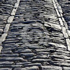 Medieval Antique Stone Road - (C) Celia Ascenso 2016